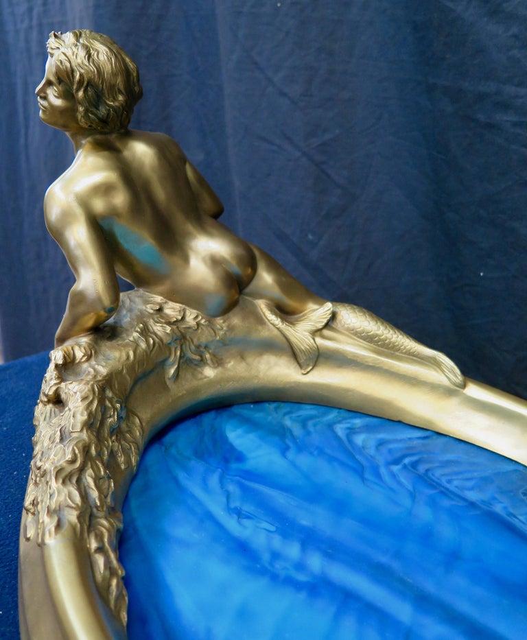 Art Nouveau Period Mythological Bronze Centerpiece For Sale 3