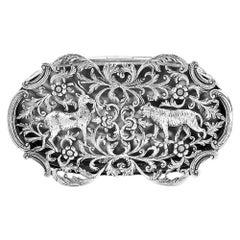 Art Nouveau Period Solid Silver Pot Pourri Box William Comyns