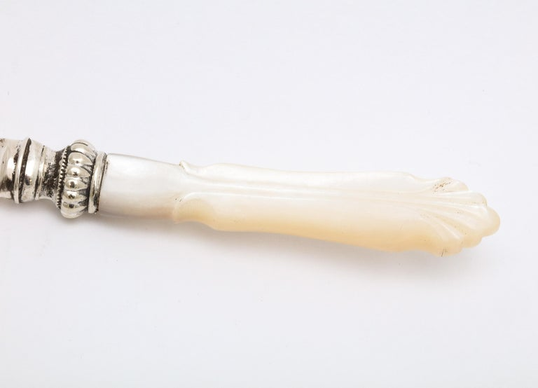 Art Nouveau Period Sterling Silver and Mother-of-Pearl Letter Opener/Paper Knife For Sale 1