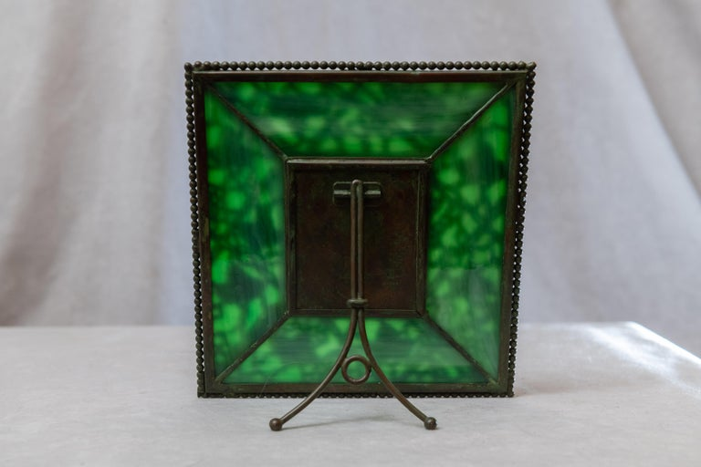 Early 20th Century Art Nouveau Picture Frame, Signed Tiffany Studios, Grapevine Pattern, circa 1910 For Sale