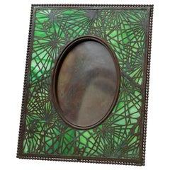 Art Nouveau Picture Frame Signed Tiffany Studios, Pine Needle Pattern