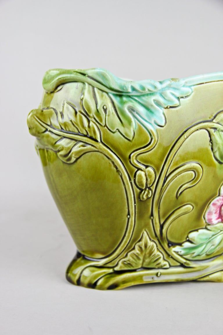 20th Century Art Nouveau Planter or Jardinière Floral, France, circa 1910 For Sale