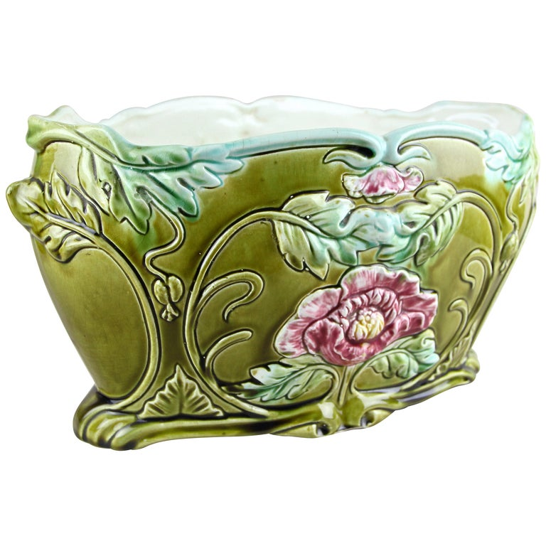 Art Nouveau Planter or Jardinière Floral, France, circa 1910 For Sale