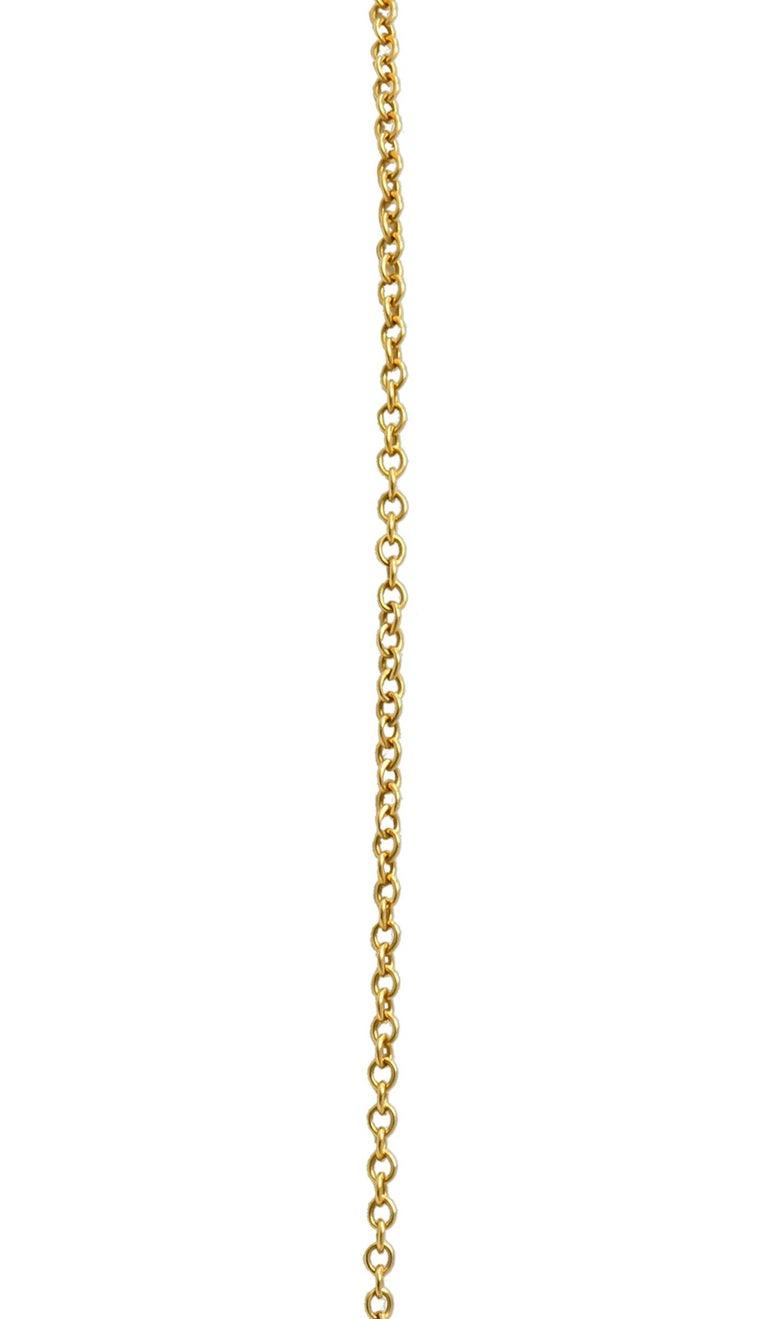 Art Nouveau Plique-à-jour Enamel Diamond Platinum 18 Karat Gold Portrait Pendant For Sale 1