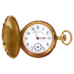 Vacheron Constantin Art Nouveau Diamond Gold Pocket Watch