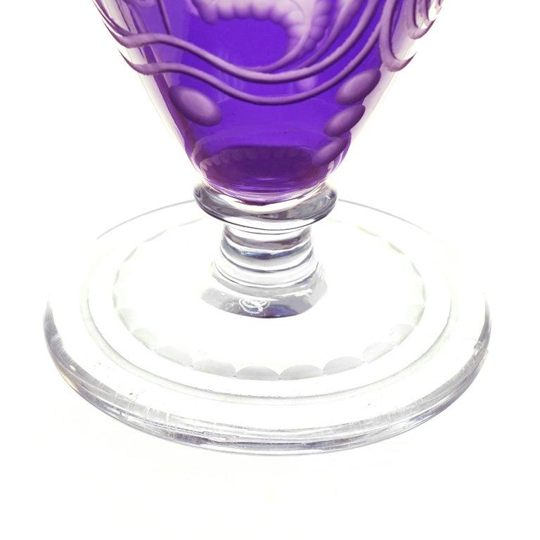 Art Nouveau Purple Vase by Libby For Sale 4