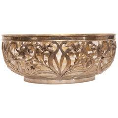 Art Nouveau Reticulated Silver Bowl