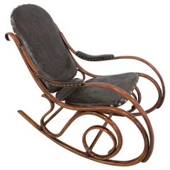 Art Nouveau Rocking Chair from Thonet