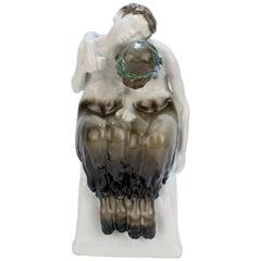Art Nouveau Rosenthal Porcelain Figurine of Sleeping Fauns by Albert Caasmann