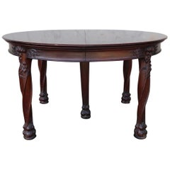 Art Nouveau Round Banquet Dining Table after Majorelle
