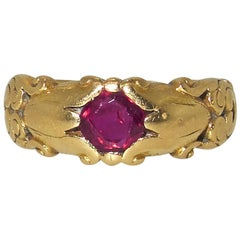 Art Nouveau Ruby Ring, circa 1910