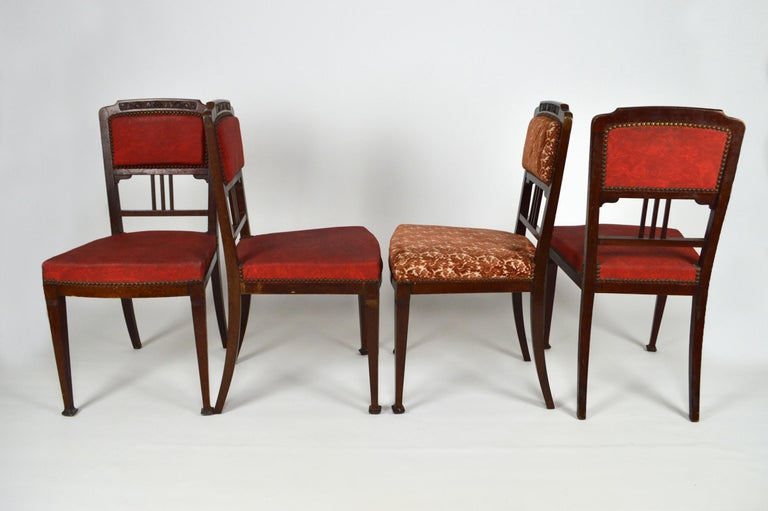Art Nouveau Salon Set in Carved Mahogany on a Floral Theme, circa 1900 For Sale 14
