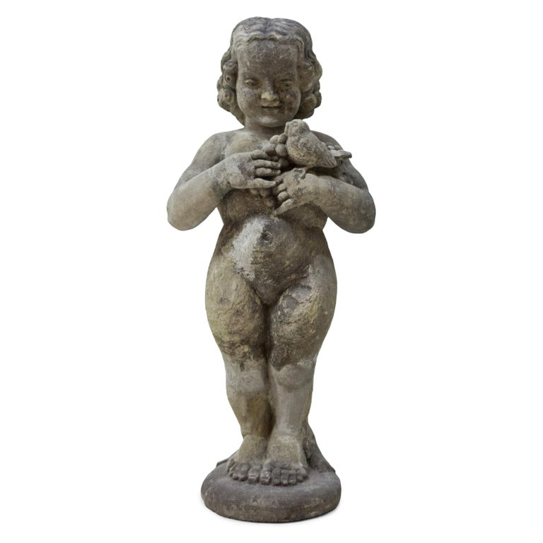 Art Nouveau Sandstone Putto, Early 20th Century For Sale 2