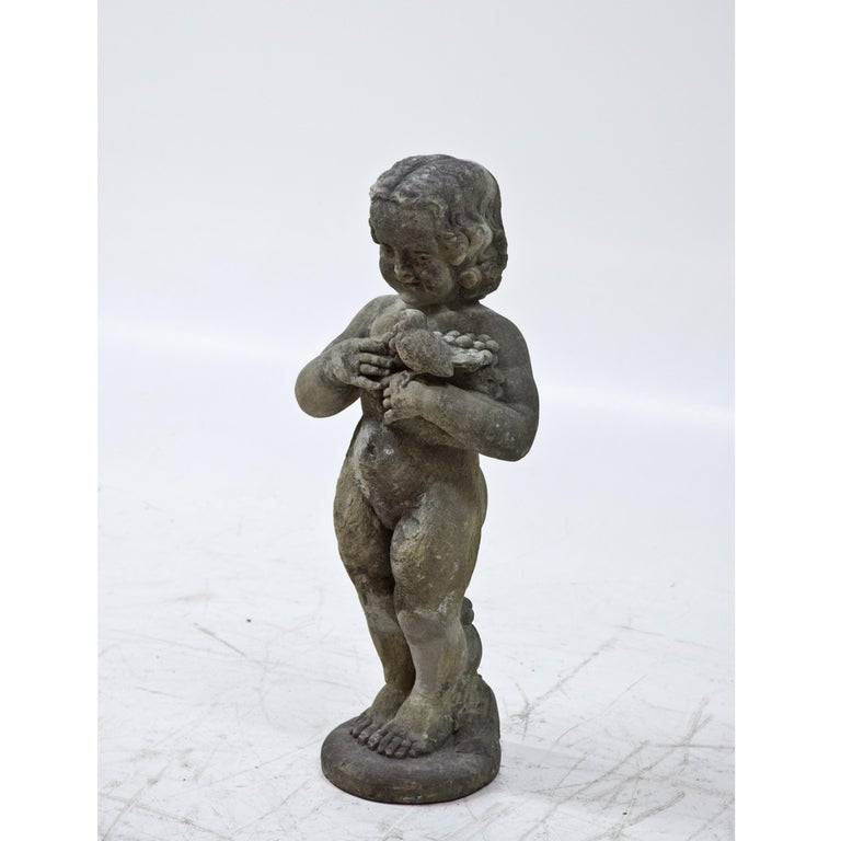 Art Nouveau Sandstone Putto, Early 20th Century For Sale 4