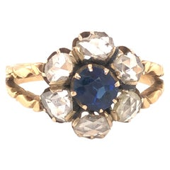 Art Nouveau Sapphire and Diamond Ring