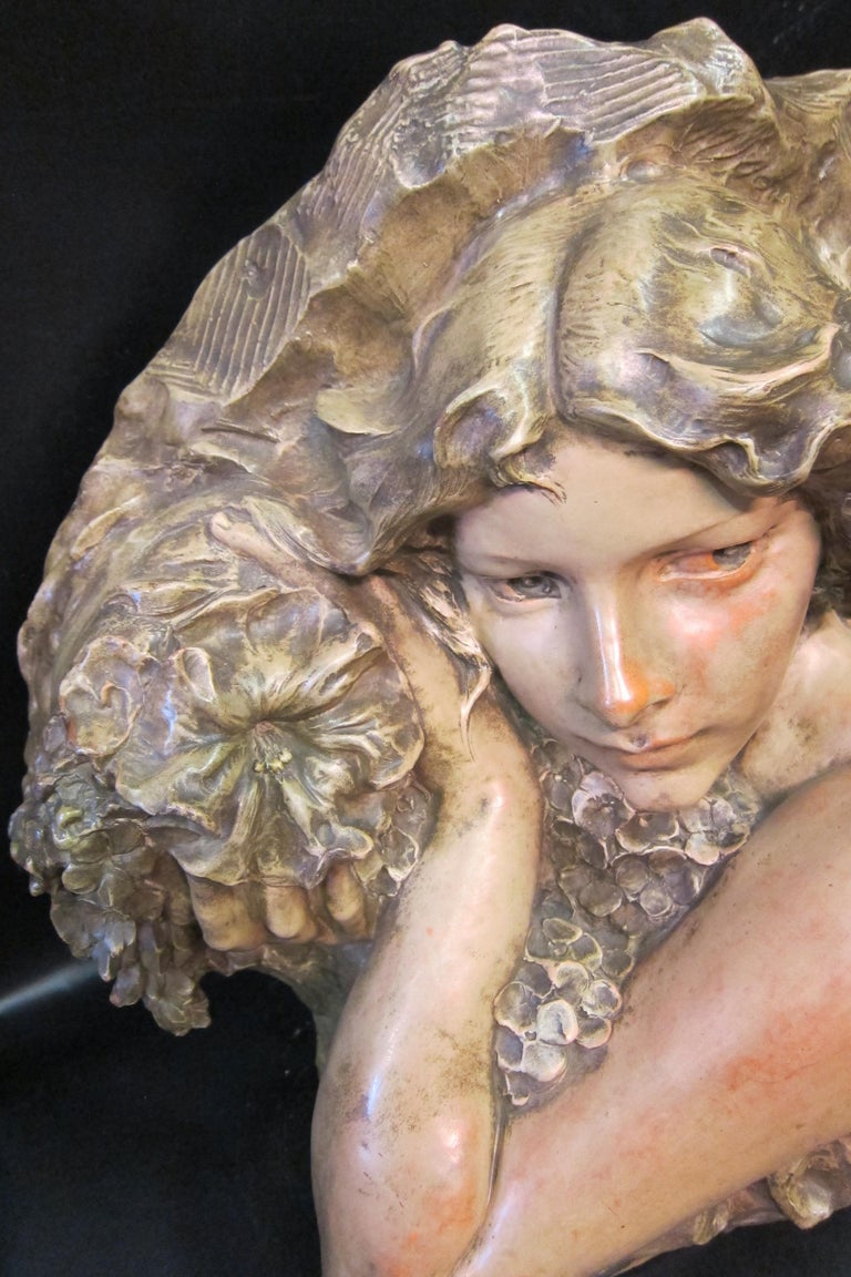 Art Nouveau Sculpture in Terra Cotta In Good Condition For Sale In Bronx, NY