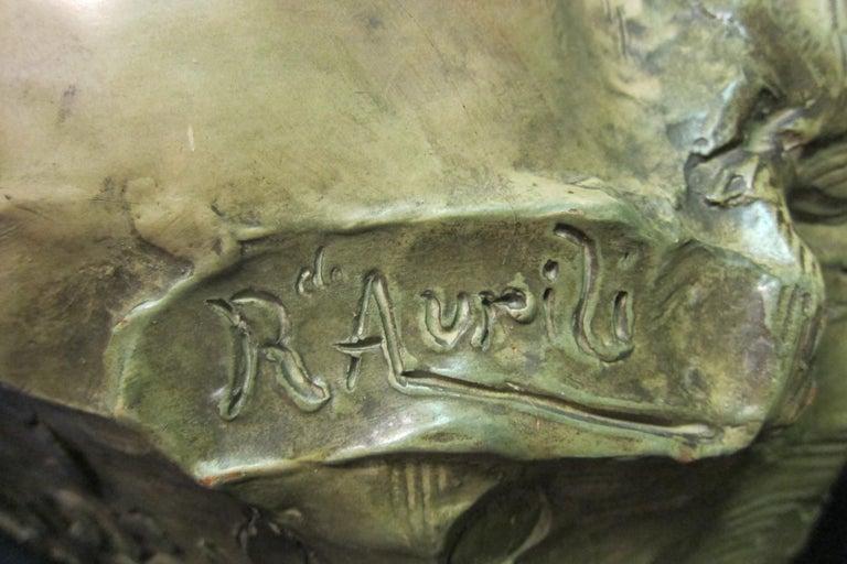 Art Nouveau Sculpture in Terra Cotta For Sale 1