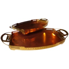 ART NOUVEAU Serving-Tray  Gustave Serrurier-Bovy  Two