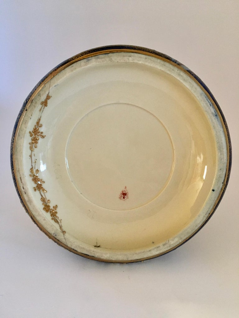 Art Nouveau Set Vases Enameled Amphora Porcelain Riessner Stellenmacher, 1900 For Sale 9