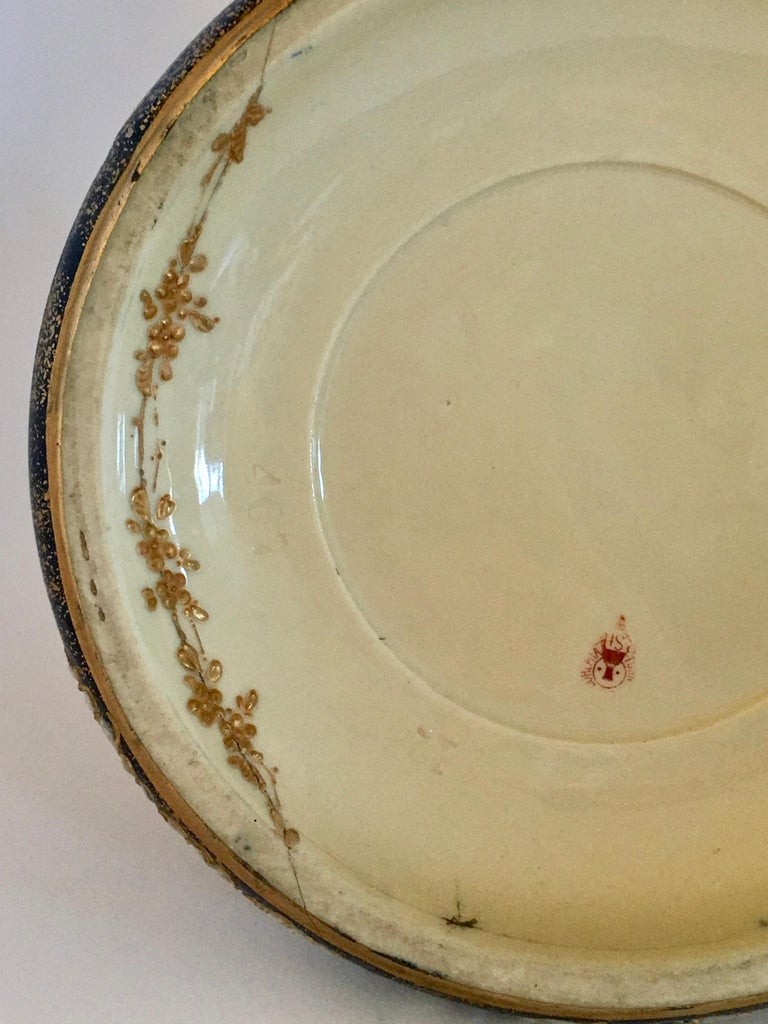 Art Nouveau Set Vases Enameled Amphora Porcelain Riessner Stellenmacher, 1900 For Sale 10
