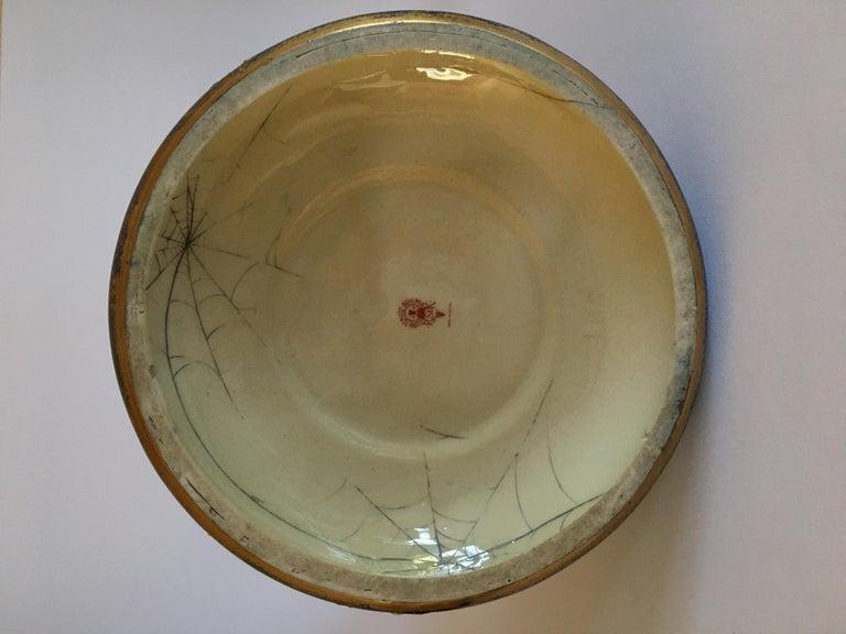 Art Nouveau Set Vases Enameled Amphora Porcelain Riessner Stellenmacher, 1900 For Sale 2