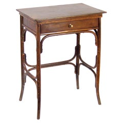Art Nouveau Sewing Table Fischel Nr. 6, circa 1910, Thonet Style