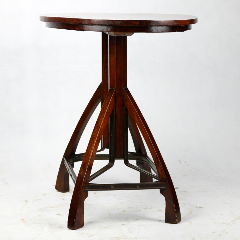 Early 20th Century Art Nouveau Side Table, circa 1900 For Sale