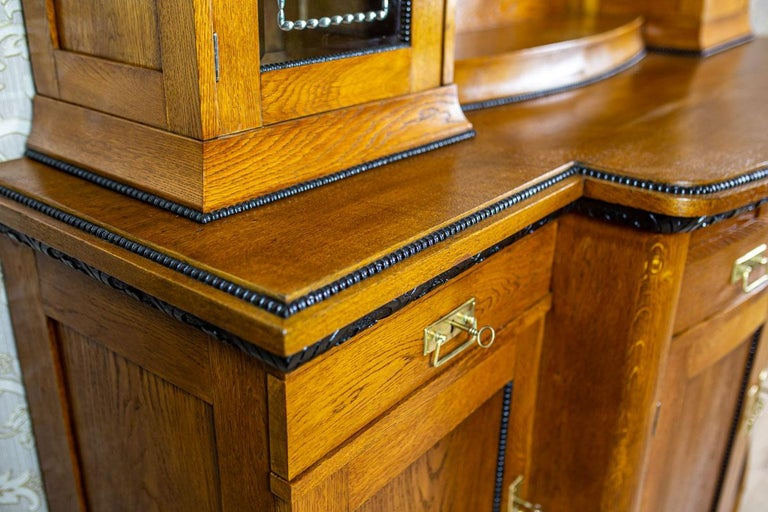 Veneer Art Nouveau Sideboard from the Turn of the 19th and 20th Century For Sale
