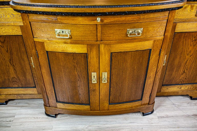Art Nouveau Sideboard from the Turn of the 19th and 20th Century In Good Condition For Sale In Opole, PL