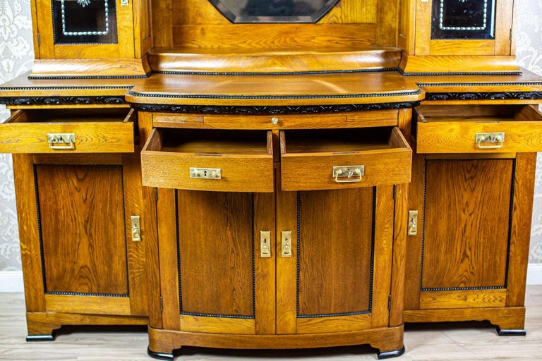 Oak Art Nouveau Sideboard from the Turn of the 19th and 20th Century For Sale