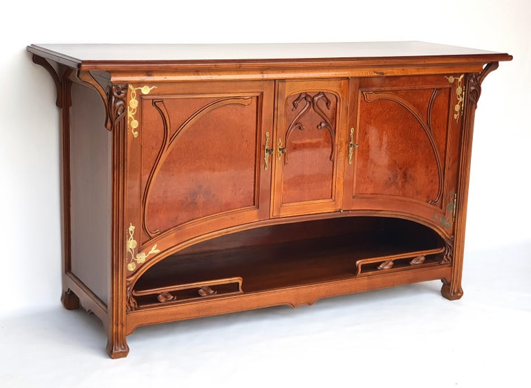 Art Nouveau Sideboard in the Style of Eugène Gaillard, 1900s For Sale 1