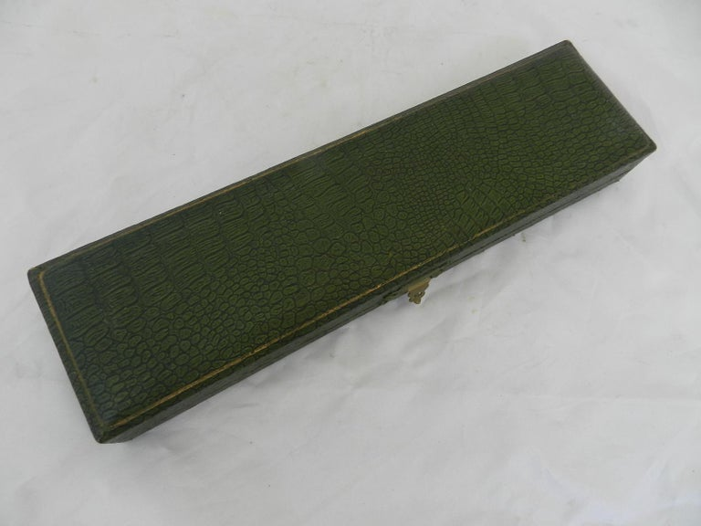 Art Nouveau Signed Gilt Bronze Letter Opener Desk One of a Kind Desk Accessory In Good Condition For Sale In , South West France