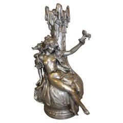 Art Nouveau Silver Bronze De Ferville Suan