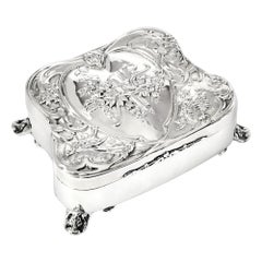 Art Nouveau Silver Jewelry Box