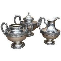Art Nouveau Silver Plated Belgian Tea Set by Wiskemann