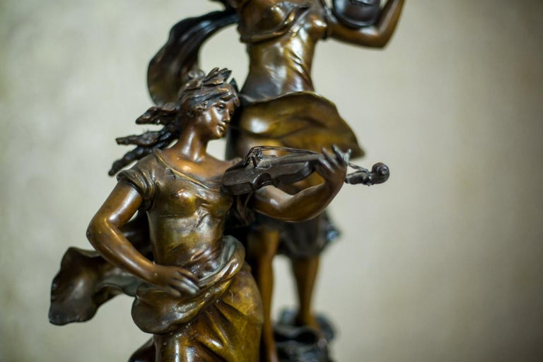 Art Nouveau Statue by Louis A. Moreau, the Turn of the 19th and 20th Century 6