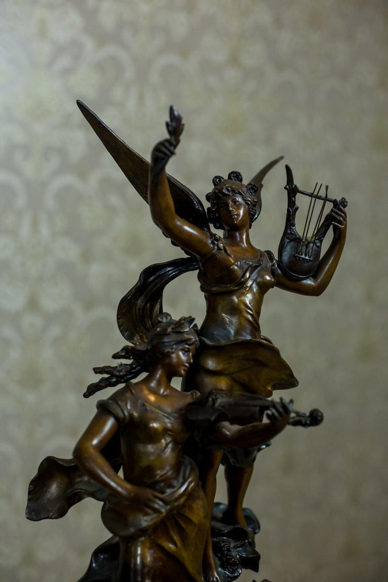 Art Nouveau Statue by Louis A. Moreau, the Turn of the 19th and 20th Century 7