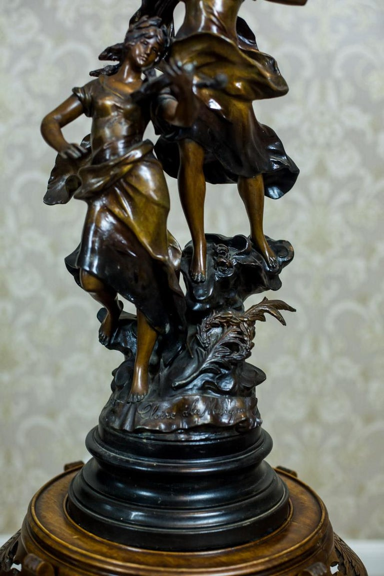 Art Nouveau Statue by Louis A. Moreau, the Turn of the 19th and 20th Century 8