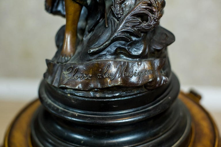 French Art Nouveau Statue by Louis A. Moreau, the Turn of the 19th and 20th Century