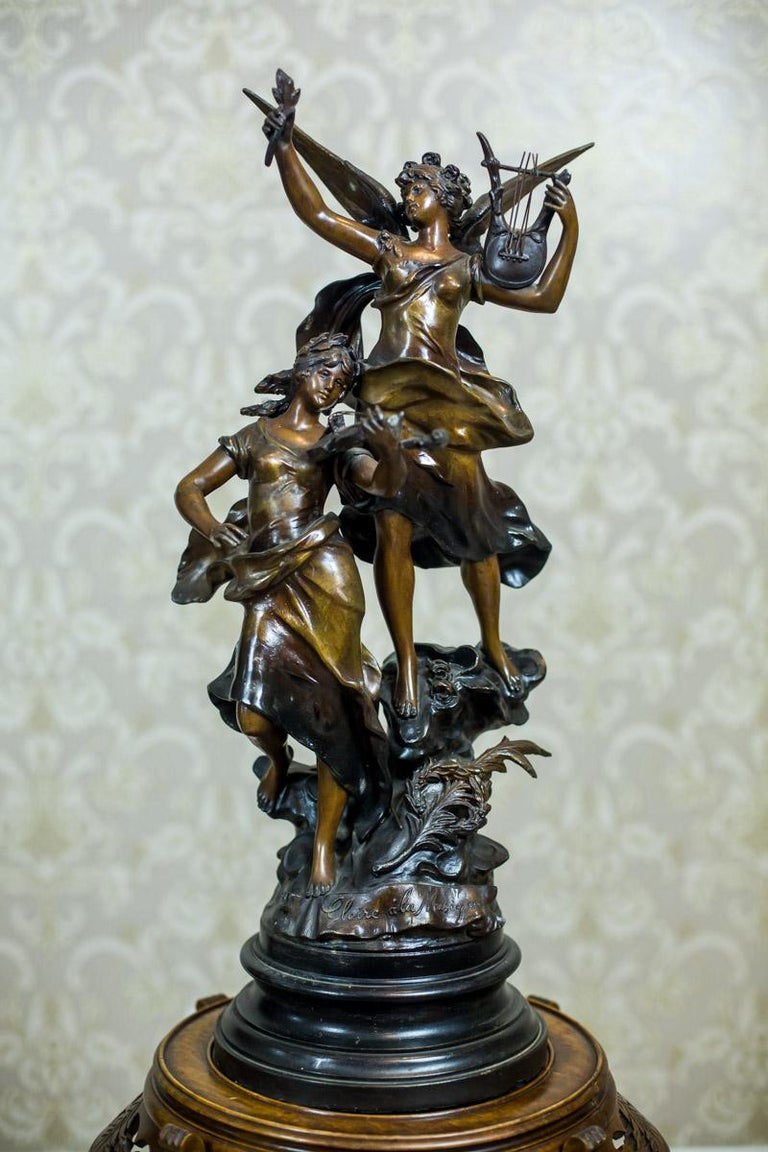 Art Nouveau Statue by Louis A. Moreau, the Turn of the 19th and 20th Century 1