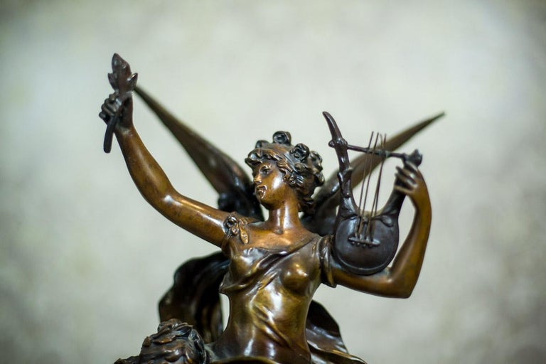 Art Nouveau Statue by Louis A. Moreau, the Turn of the 19th and 20th Century 2