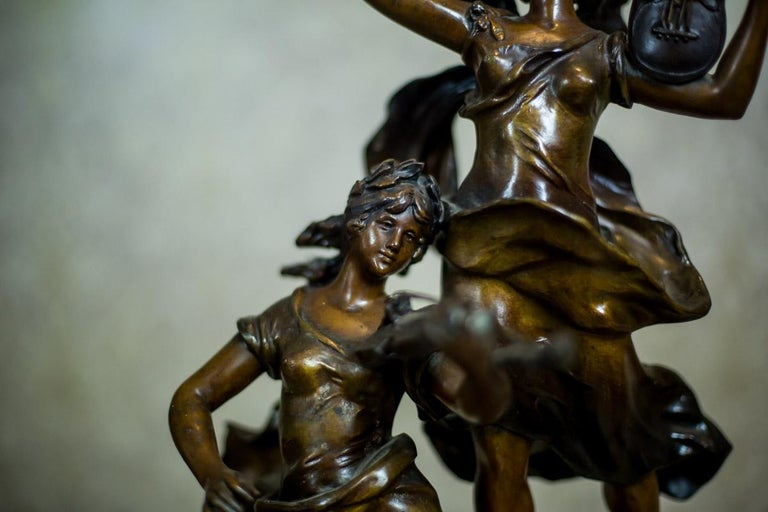 Art Nouveau Statue by Louis A. Moreau, the Turn of the 19th and 20th Century 3