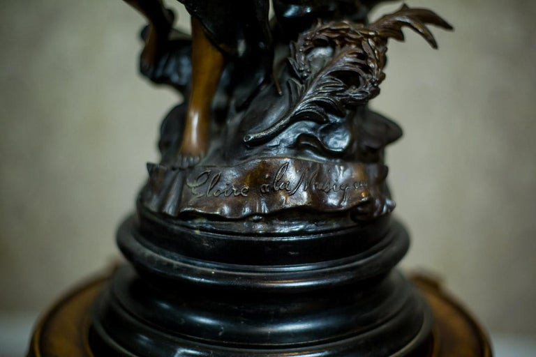 Art Nouveau Statue by Louis A. Moreau, the Turn of the 19th and 20th Century 5