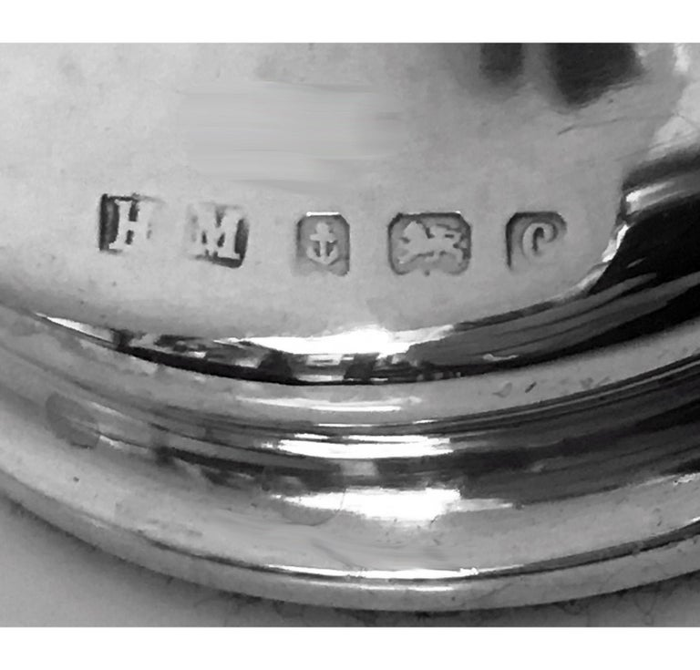 Hammered Art Nouveau Sterling Silver Flower Vase, Birmingham 1902 Henry Matthews For Sale