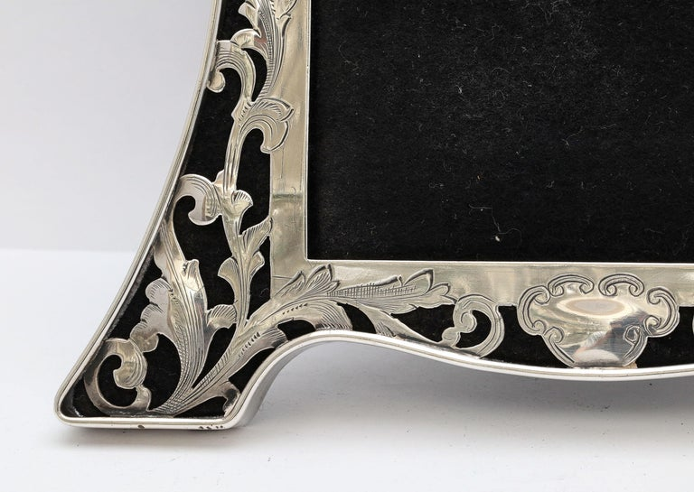 American Art Nouveau Sterling Silver-Mounted Picture Frame For Sale
