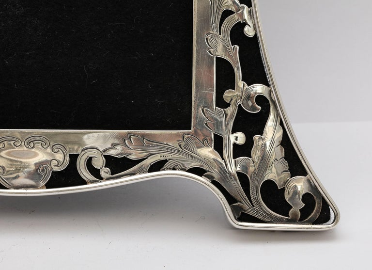 Early 20th Century Art Nouveau Sterling Silver-Mounted Picture Frame For Sale
