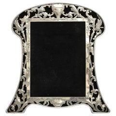 Art Nouveau Sterling Silver-Mounted Picture Frame