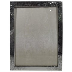 Art Nouveau Sterling Silver Picture Frame by Collectible Unger Bros