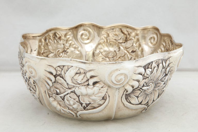 Art Nouveau Sterling Silver Serving Bowl by Whiting Mfg. Co For Sale 5