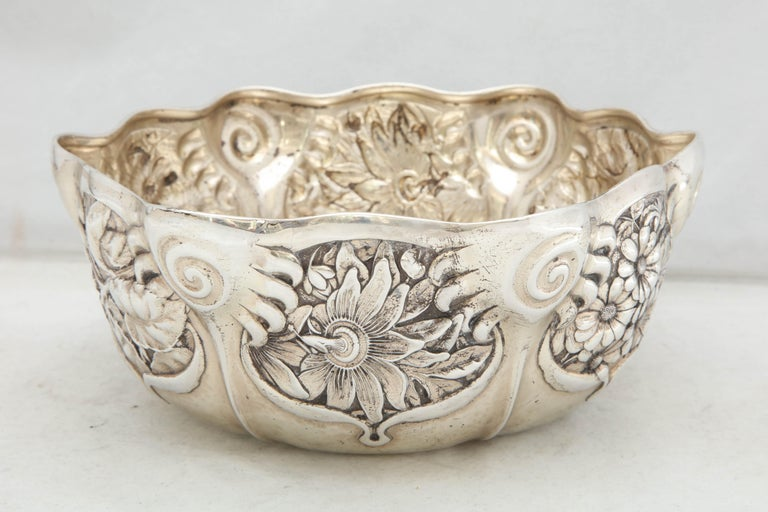 Art Nouveau Sterling Silver Serving Bowl by Whiting Mfg. Co For Sale 6
